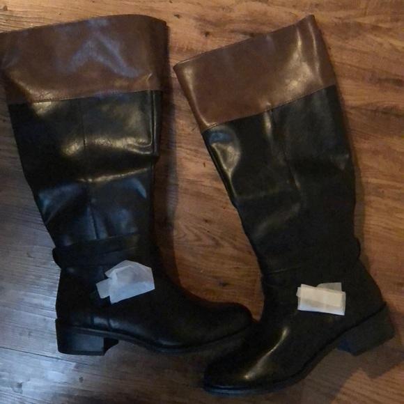4edb688205ba6 Wide calf black and brown boots
